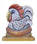 Hand carved chicken by American Folk Artist, Mary Michael Shelley.